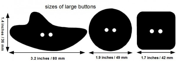 size of large buttons