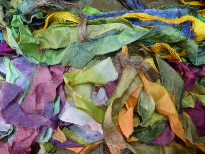 Hope Jacare hand dyed silk ribbons
